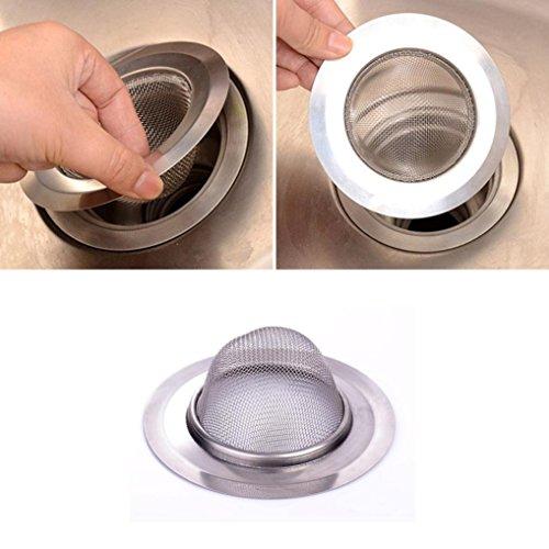 HongXander New Home Kitchen Sink Drain Strainer Stainless Steel Mesh Basket Strainer 7cm
