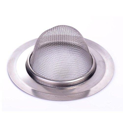 LEERYA New Home Kitchen Sink Drain Strainer Stainless Steel Mesh Basket Strainer