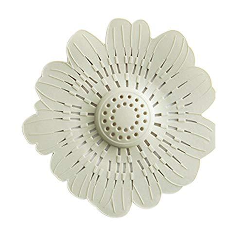 BIRD WORKS Lovely Flower Shape Bath Kitchen Waste Sink Strainer Stopper Drain Cover Filter Green