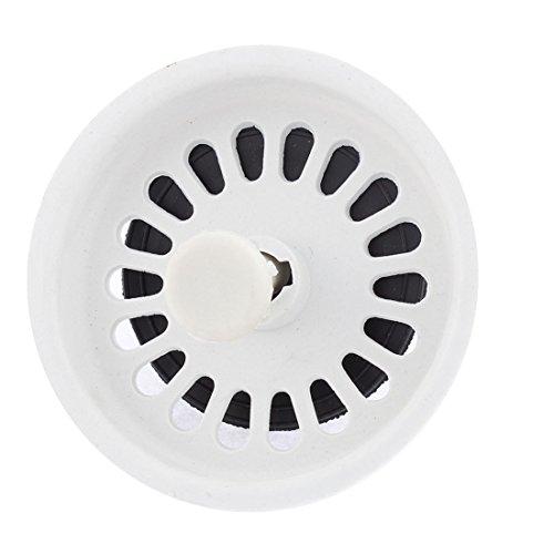uxcell Plastic Bathroom Kitchen Sink Stopper Drain Strainer White Black