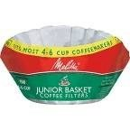 Melitta 62912 White 4 Cup Basket Coffee Filters 100 Count