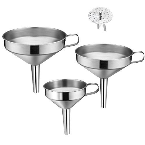 ELEFOCUS Stainless Steel Funnel Set - Set of 3