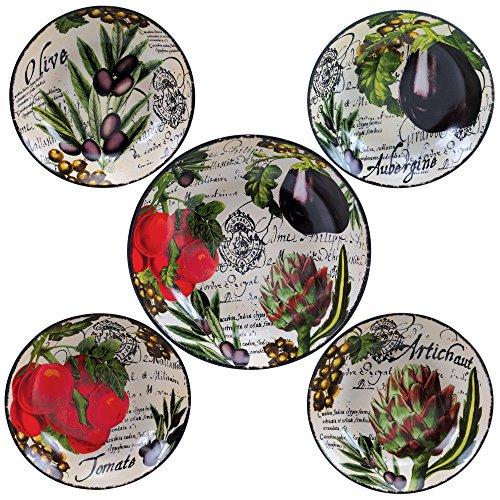 Certified International Corp 89230 Certified International Botanical Veggies Pasta Set Multicolored 5 Piece