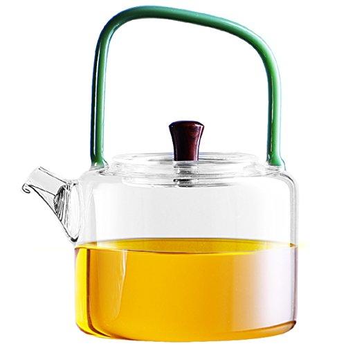 Ceramic Story Borosilicate Glass Teapot Teakettle Stovetop Safe800ml