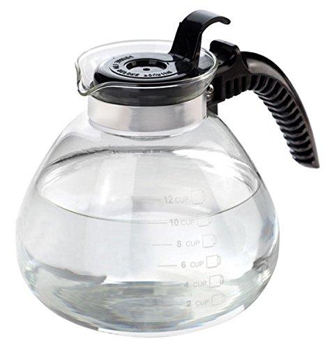 Home Basics Glass Tea Kettle Whistling