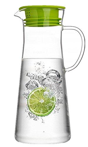 Moyishi 50 oz Glass Water Pitcher Glass Water Kettle Iced Tea Pitcher