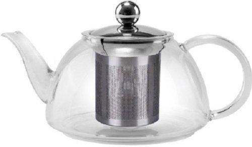 PREMIUM Heat resistant STOVE TOP SAFE Glass Kettle Tea Pot TEAPOTS 1200ml NEW