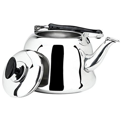AMFOCUS Stainless Steel Whistling Teakettle Stove Top Tea Pot 4 Liter