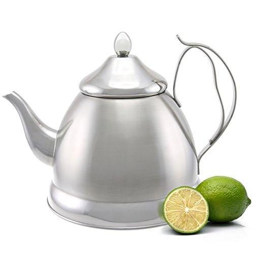 Evco International Creative Home Nobili-Tea Stainless Steel Tea Kettle 20 quart Silver