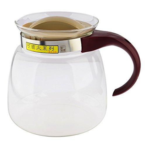 Glass Kettle WOLFBUSH 1850ML Heat-resistant Gas Electric Stoves Glass Kettle Glass Tea Pot Kitchen Dining Teapots