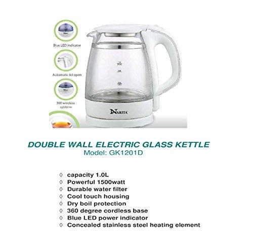 HNDÂ 10 L Electric Glass Kettle Double Wall Kettle 1500 Watt Max