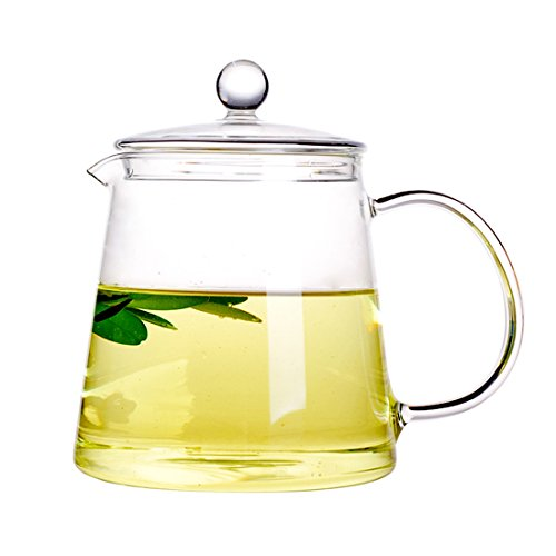 Xiazhi High Borosilicate Glass Teapot Glass Teakettles Stovetop Safe 1100ml