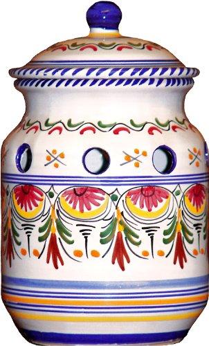 Ceramic Garlic Keeper from Spain Multicolor Pattern