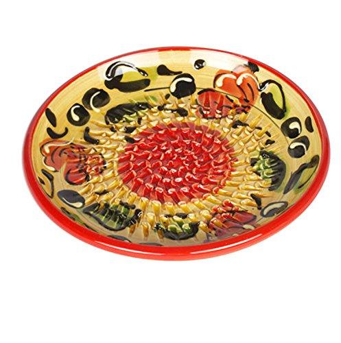Colorful Ceramic Garlic Grater Plate - OrangeYellow