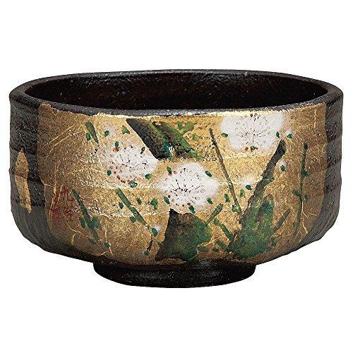 Japanese Matcha Bowl Gold Leaf Kutani Yakiware