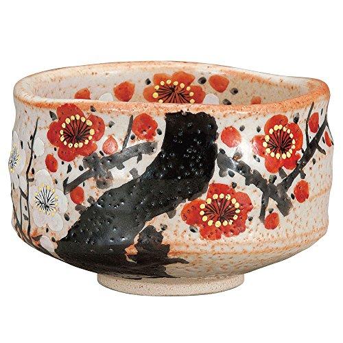 Japanese Matcha Bowl Plum Kutani Yakiware