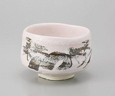 Matcha bowl Japanese tea cup for tea ceremony Mino Shino style porcelain Chawan 43