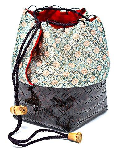 Tradition Matcha Bamboo Travel Bag for Matcha Tea Set Green