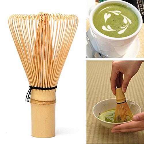 Ioffersuper Ceremony Bamboo Chasen Japanese Green Tea Whisk for Preparing Matcha Powder Large
