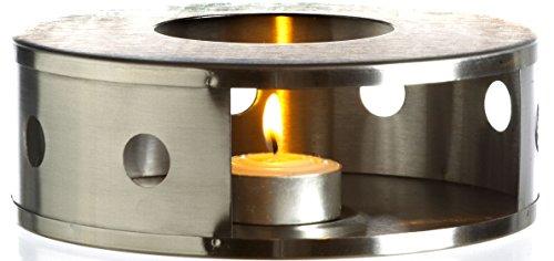 GROSCHE ALEXANDRIA Stainless Steel Candle Lit Teapot Warmer