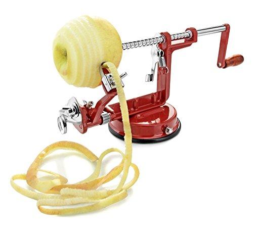 Misula Durable New 3 in 1 Function Fruit Vegetable Tools Apple Slinky Machine Peeler Fruit Zester Slicer Kitchenware Peel Potatoes Slice Zucchinis Kitchen Appliance