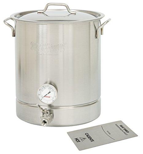 Bayou Classic 800-432 Stainless Steel 8 Gallon Brew Kettle Set 32 Quart