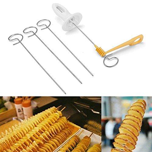 Potato Twister Stainless Steel Tornado Slicer Manual Cutter Spiral Chips Fruits Vegetable Tools Kitchen