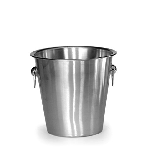 Mr Ice Bucket Stainless Steel Champagne Bucket Silver