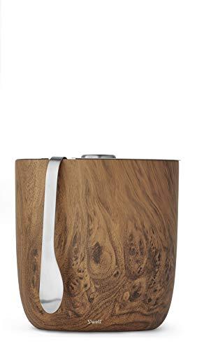 Swell 13068-B19-00820 Ice Bucket  Tongs 2L68oz Teakwood