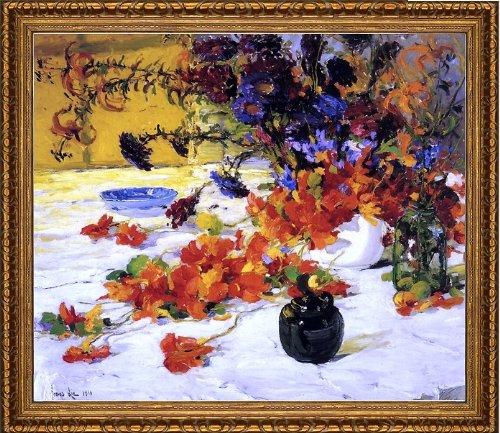 Jonas Lie The Black Teapot - 205 x 255 Framed Premium Canvas Print