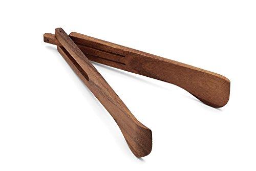 Ironwood Gourmet 28203 Spring Salad Tongs Acacia Wood
