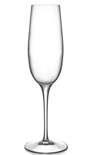 Luigi Bormioli 0923306 Palace 8 oz Flute Sparkling Wine Glass Set of 6 Clear