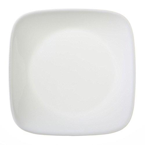 """Corelle Square Pure White 6-12"""" Plate Set of 8"""