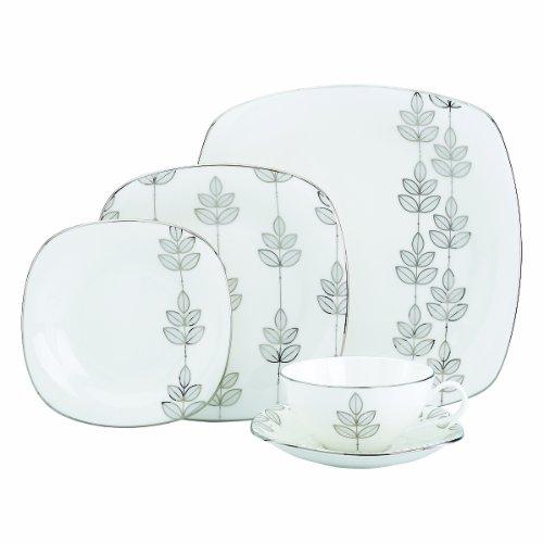 Lenox Platinum Leaf Square 10-14-Inch Dinner Plate