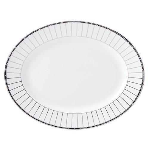 Lenox Platinum Onyx Oval Platter 13 White