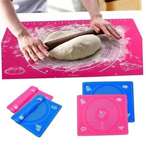 Drhob Silicone Roll Cut Mat Rolling Cutting Pad Fondant Cake Dough Decorating Tool li3