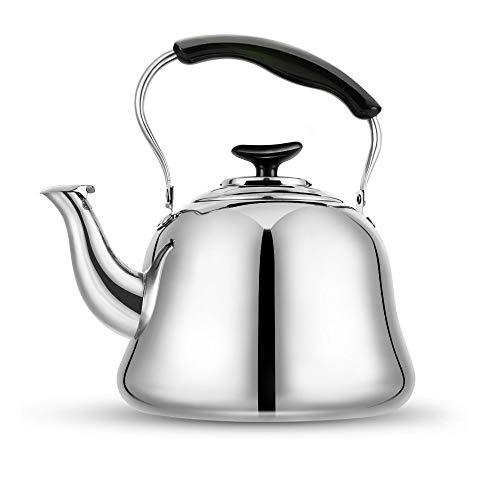 Tea Kettle Stovetop Whistling Tea Pot Stainless Steel Tea Kettles Tea Pots for Stove Top 23QT2-Liter