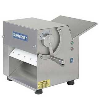Somerset CDR-100 Little Wonder Dough Sheeter 10 rollers bench single pass side