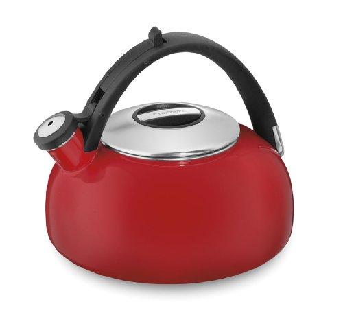 Cuisinart CTK-EOS2R Peak Porcelain Enamel on Steel Tea Kettle Red