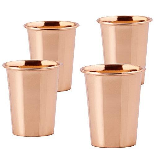 Old Dutch Solid Flared Shot Mugs Copper Set of 4