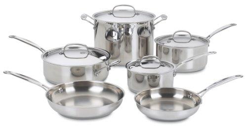 Cuisinart 77-10 Chefs Classic Stainless 10-Piece Cookware Set