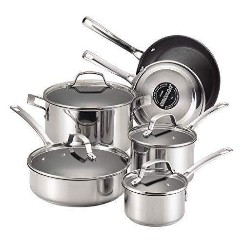 Circulon 77881 10-Piece Stainless Steel Cookware Set Renewed