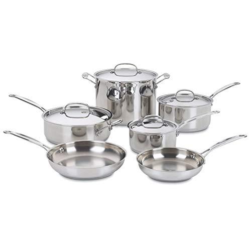StarSun Depot 10-Piece Stainless Steel Cookware Set