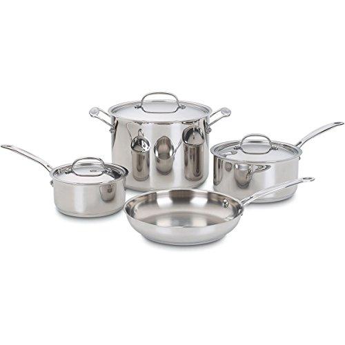 Cuisinart Chefs Classic Stainless Steel 7-Piece Cookware Set