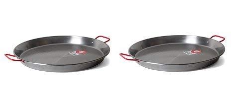 Garcima 20-Inch Carbon Steel Paella Pan 50cm 2-Pack