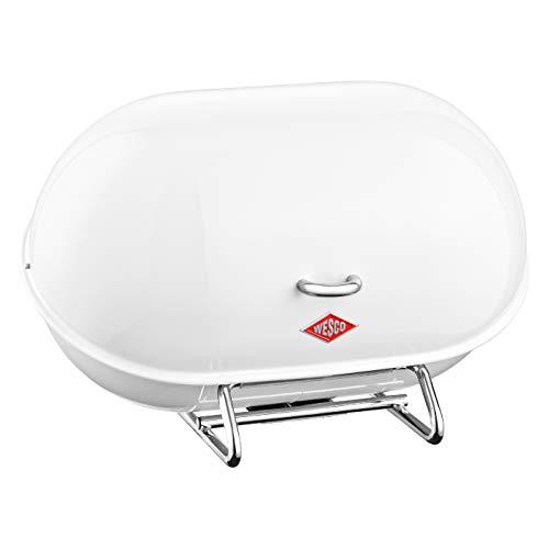 WESCO Single Breadboy - Steel Bread Box for KitchenStorage Container White usone Size