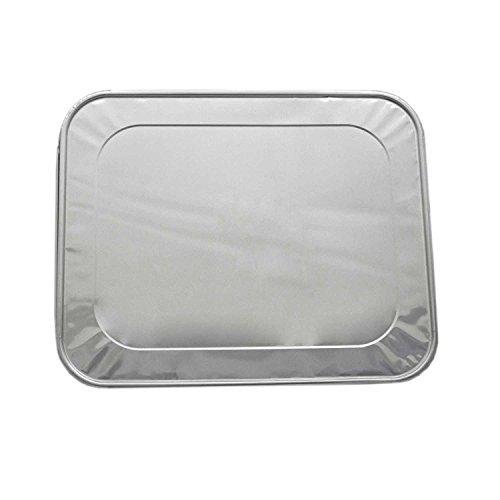 Aluminum Foil Lids for Aluminum Steam Table Pans Fits Half-Size Pans 1 Bags of 20