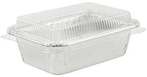 Disposable Foil 4 Mini Bread Loaf Pans Small Pans For Baking With wClear Lid 25 Sets