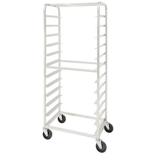 HUBERT Aluminum 12 Pan Side Load Bun Pan Rack - 28L x 18W x 70H