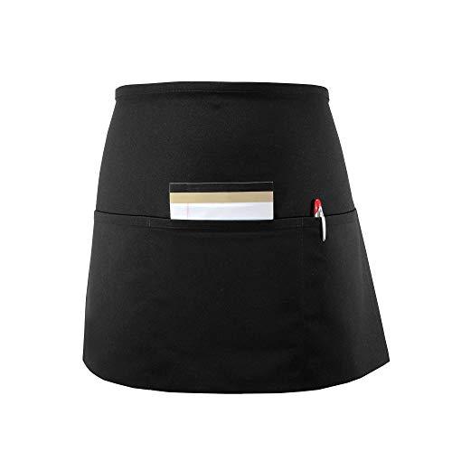 FAME Adult Long 3 Pocket Waist Apron Black-OS 18810 F9L-83398